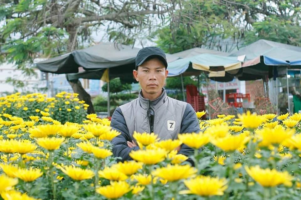 Ông Nguyễn Xuân Hiếu tại vườn hoa Xuân 2019