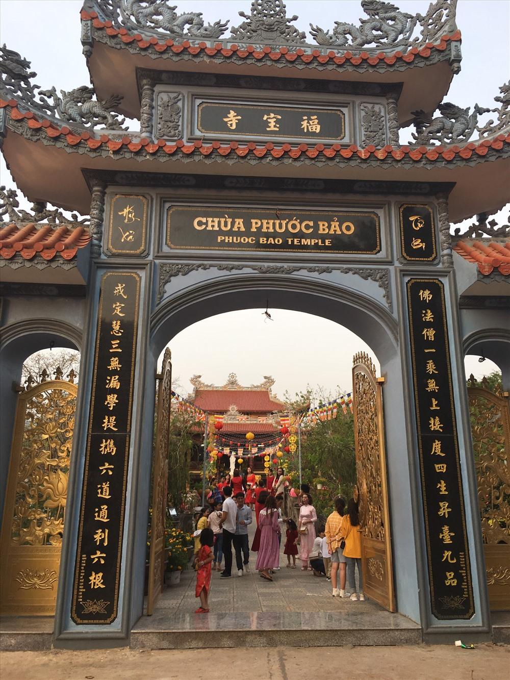 Nằm ở trung tâm thị trấn Lao Bảo, chùa Phước Bảo là điểm đến đầu năm của người dân.